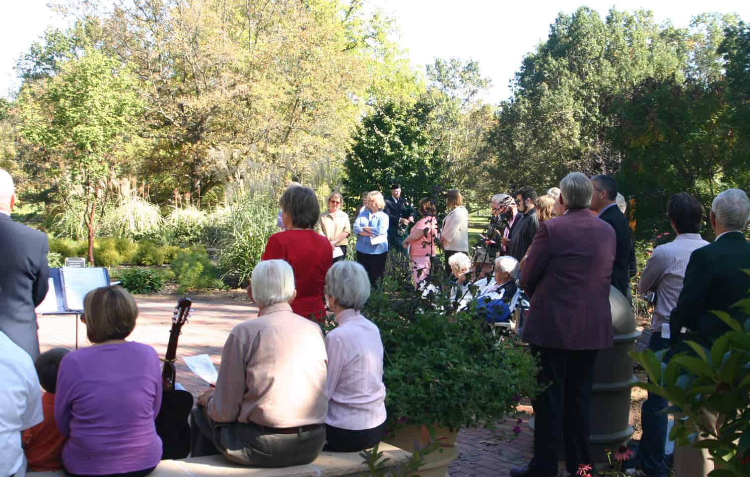 Serenity Garden Dedication Photo